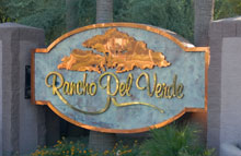 Rancho Del Verde Community Sign in Gilbert Arizona