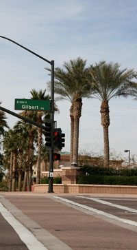 Gilbert Road Street Sign